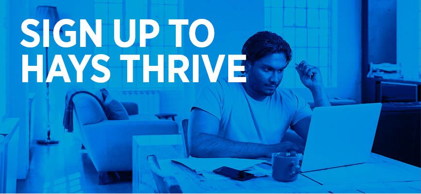 Sign up to Hays Thrive