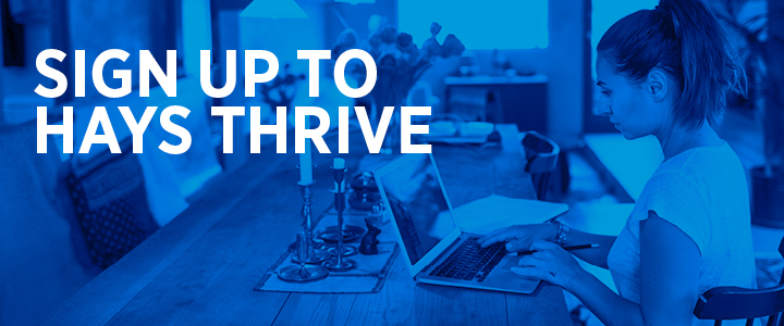Sign up for Hays Thrive Premium Training