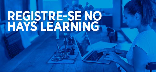 Registre-se no Hays Learning