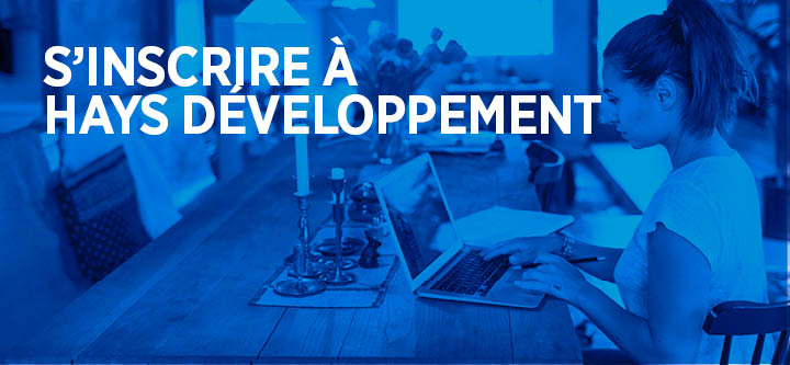S'inscrire à Hays Développement